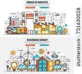 business flat line concept web... | Shutterstock .eps vector #731630026