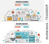 business flat line concept web... | Shutterstock .eps vector #731630029