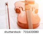 violin isolated on the white.... | Shutterstock . vector #731633080