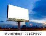 blank billboard ready to use...   Shutterstock . vector #731634910
