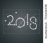 soccer strategy for goal 2018... | Shutterstock .eps vector #731636458