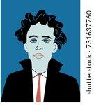 man character portrait. vector... | Shutterstock .eps vector #731637760