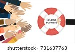 helping business to survive.... | Shutterstock .eps vector #731637763