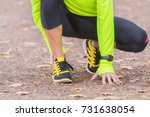 ankle injury and pain from... | Shutterstock . vector #731638054
