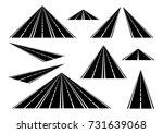 set straight roads and highways ...   Shutterstock .eps vector #731639068