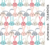 vector pattern with cute... | Shutterstock .eps vector #731640436