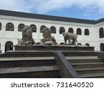 lion and tiger statue | Shutterstock . vector #731640520