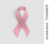 pink ribbon on transparent... | Shutterstock .eps vector #731640829