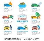car insurance auto service.... | Shutterstock .eps vector #731642194