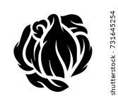 flower rose  black and white.... | Shutterstock .eps vector #731645254