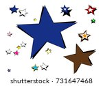 colorful stars | Shutterstock .eps vector #731647468