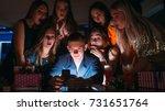 surprising christmas pictures... | Shutterstock . vector #731651764