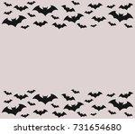 halloween  vector background.... | Shutterstock .eps vector #731654680