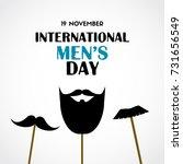 international men's day vector... | Shutterstock .eps vector #731656549