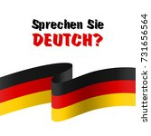 sprechen sie deutch  the... | Shutterstock .eps vector #731656564