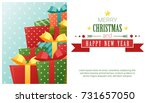 merry christmas and happy new... | Shutterstock .eps vector #731657050