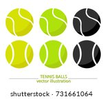 set of yellow  green and black... | Shutterstock .eps vector #731661064