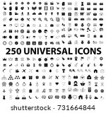 universal flat icons set vector | Shutterstock .eps vector #731664844