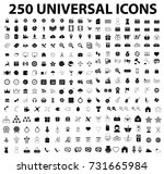 universal icons set vector | Shutterstock .eps vector #731665984