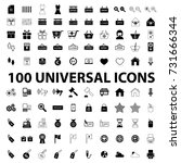 website universal icons set... | Shutterstock .eps vector #731666344
