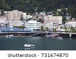 the water traffic in juneau... | Shutterstock . vector #731674870