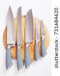 set of five modern kitchen...   Shutterstock . vector #731684620