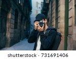 hipster millennial young man or ... | Shutterstock . vector #731691406