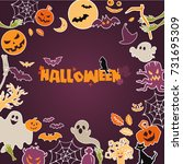 concept of halloween party... | Shutterstock .eps vector #731695309