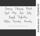 vector lettering months names...   Shutterstock .eps vector #731696140