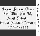 vector lettering months names...   Shutterstock .eps vector #731696194
