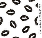 red lipstick kiss on white... | Shutterstock .eps vector #731699626
