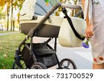 mother over a stroller | Shutterstock . vector #731700529