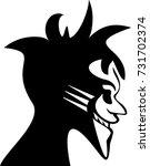 laughing joker character... | Shutterstock .eps vector #731702374