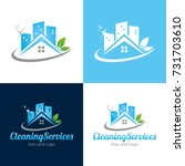 cleaning services icon and logo ... | Shutterstock .eps vector #731703610