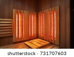 Interior Of Finnish Sauna ...