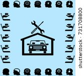 car in the garage icon ... | Shutterstock .eps vector #731708800