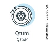 qtum cryptocurrency coin line ... | Shutterstock .eps vector #731710726