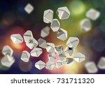 titanium dioxide tio2... | Shutterstock . vector #731711320