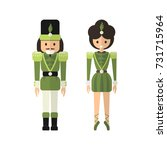 vector couple of toys from... | Shutterstock .eps vector #731715964