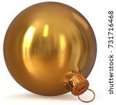 3d rendering golden christmas... | Shutterstock . vector #731716468