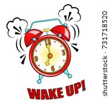 comic alarm clock ringing and... | Shutterstock .eps vector #731718520