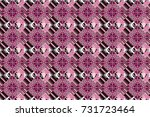raster seamless rhombus and... | Shutterstock . vector #731723464