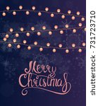 merry christmas and new year... | Shutterstock .eps vector #731723710