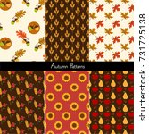 autumn patterns | Shutterstock .eps vector #731725138