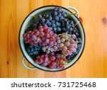 red and white grapes on wooden... | Shutterstock . vector #731725468