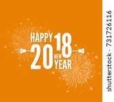 connecting to the new year 2018.... | Shutterstock .eps vector #731726116
