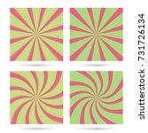 set of sunburst and swirl... | Shutterstock .eps vector #731726134