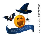 illustration halloween  vector | Shutterstock .eps vector #731727580