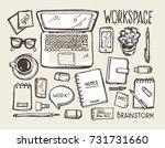 brainstorm concept. business... | Shutterstock .eps vector #731731660