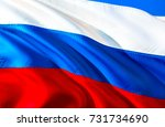 russia flag. russian flag. flag ... | Shutterstock . vector #731734690